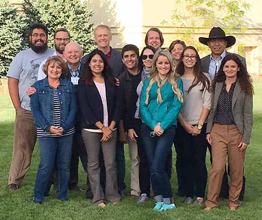 NM WRRI staff enjoyed an evening banquet at the 61st Annual New Mexico Water Conference, Where Does All the Water Go? History, Hydrology and Management of New Mexico's Scarce Waters.